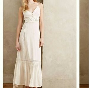 Anthro Eloise Kappa Ray Crochet Chemise Maxi Dress